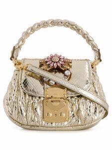Miu Miu mini embellished bag - Gold