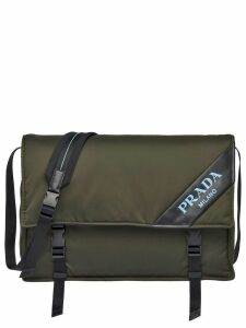Prada Large leather shoulder bag - Green