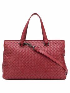 Bottega Veneta medium top handle bag - Red