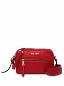 Miu Miu logo zip shoulder bag - Red