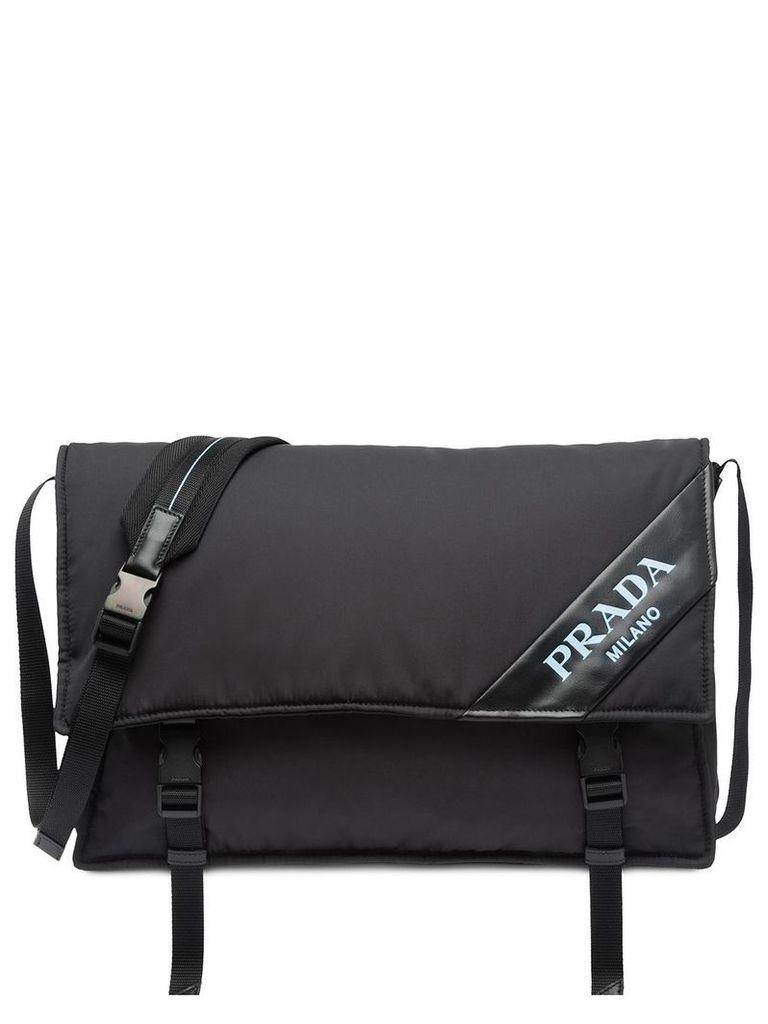 Prada large padded shoulder bag - Black