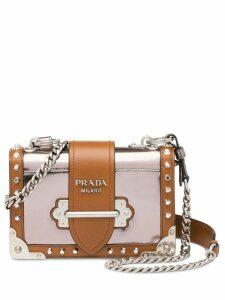 Prada Prada Cahier leather shoulder bag - Grey