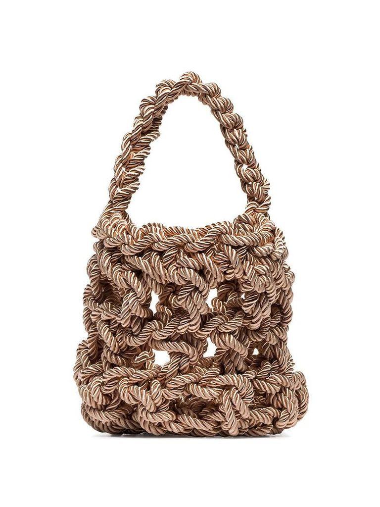 Rejina Pyo neutral Sylvia woven tote bag - Neutrals
