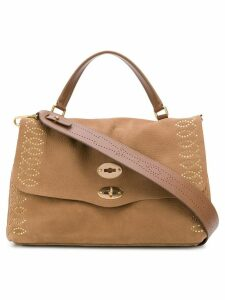 Zanellato stud-embellished tote - Brown