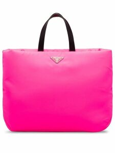 Prada padded top-handle tote - Pink