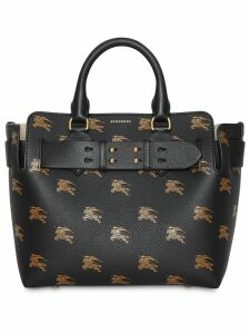 Burberry The Small Equestrian Knight Leather Belt Bag - Black