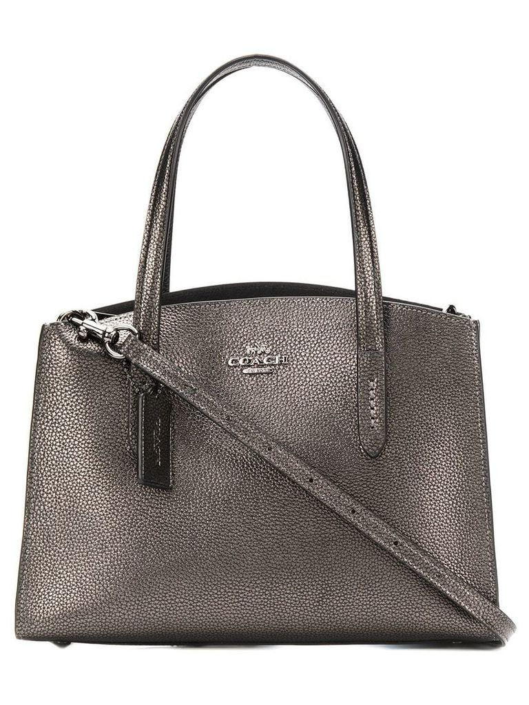 Coach leather crossbody bag - Silver