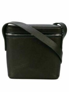 Guidi square crossbody bag - Black