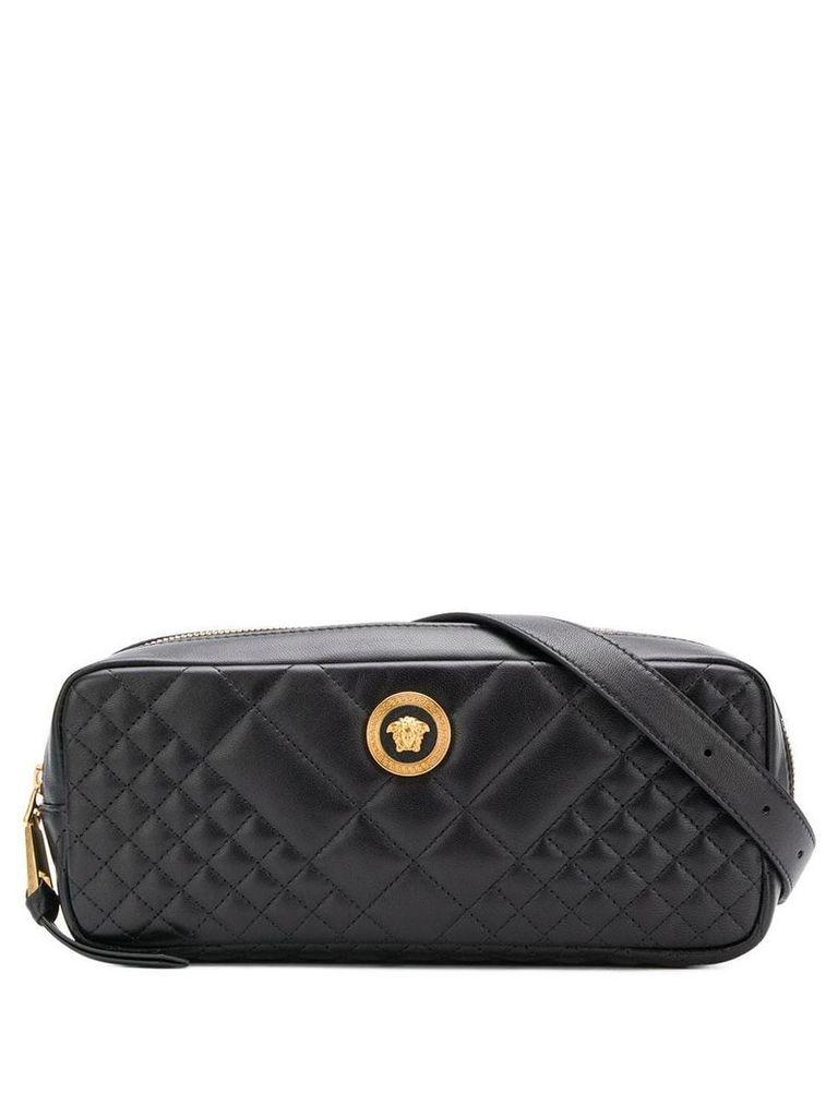 Versace quilted belt bag - Black