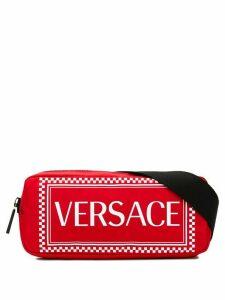 Versace logo print belt bag - Red
