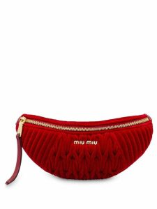 Miu Miu Matelassé belt bag - Red
