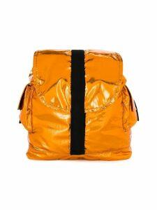 Andorine large metallic backpack - Orange