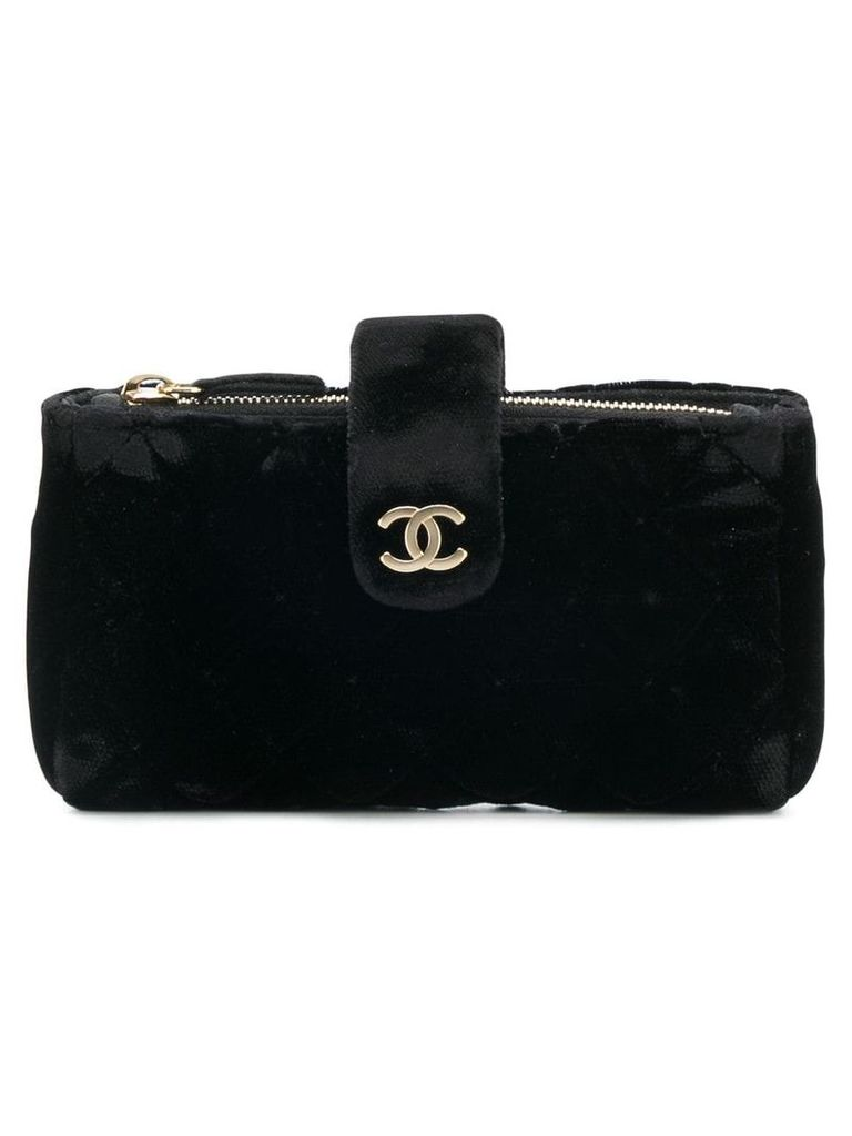 Chanel Vintage flurry open coin pouch - Black