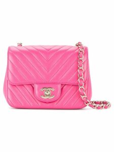 Chanel Pre-Owned V stitch shoulder bag - Pink