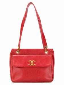 Chanel Vintage front flap shoulder bag - Red
