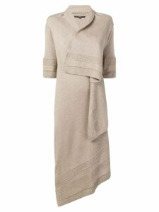 Gianfranco Ferre Pre-Owned wrap asymmetric cardi-coat - Neutrals