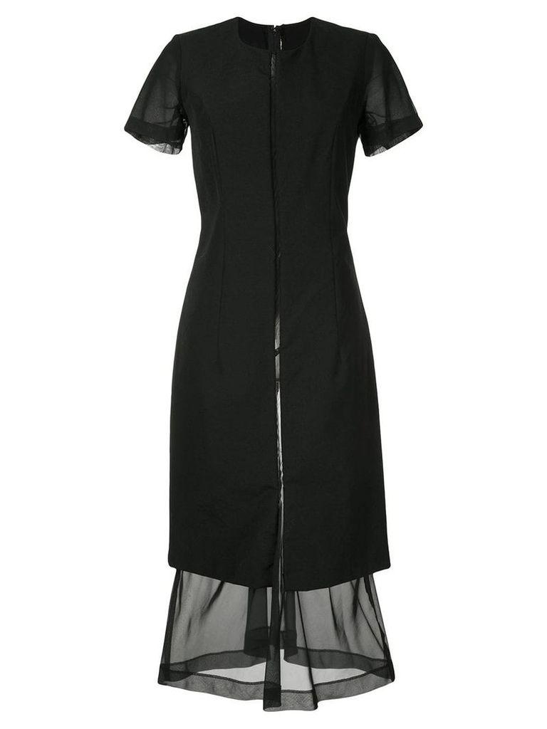 Comme Des Garçons Vintage short-sleeve flared dress - Black