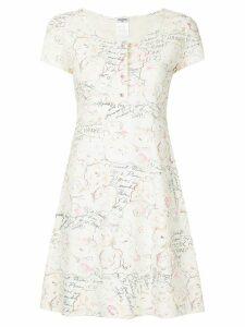 Chanel Pre-Owned printed skater dress - White