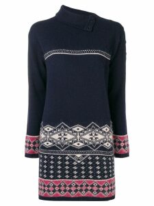 Chanel Pre-Owned intarsia knitted dress - Blue