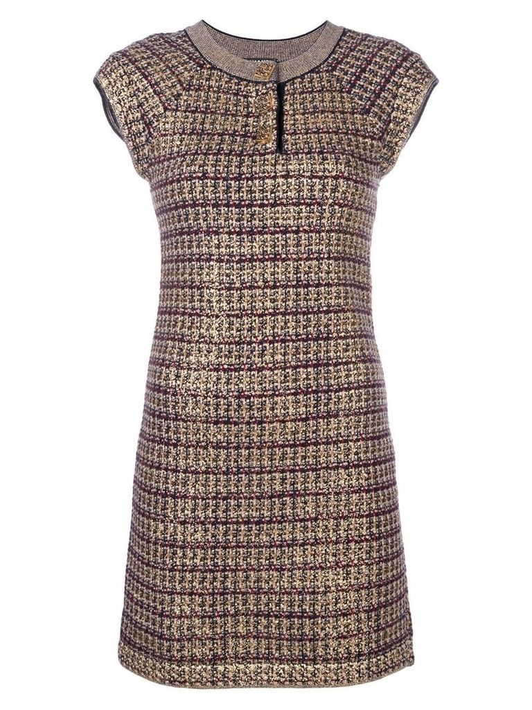 Chanel Vintage knitted fitted dress - Gold