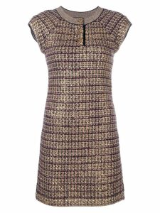 Chanel Pre-Owned knitted fitted dress - Gold