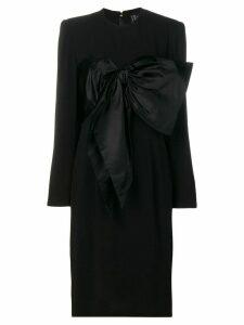 Jean Louis Scherrer Pre-Owned bow detail dress - Black