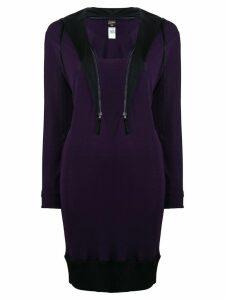 Jean Paul Gaultier Pre-Owned zipped collar sweater dress - Purple