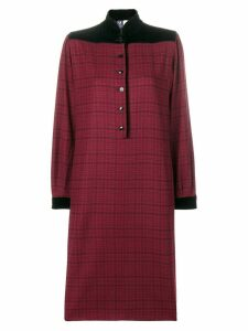 Emanuel Ungaro Pre-Owned check dress - Red