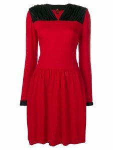 Ritz Saddler Vintage ruched panel shoulder dress - Red