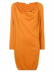 Moschino Vintage cowl neck ruched dress - Orange