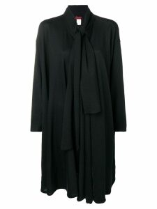 Kenzo Pre-Owned tie neckline draped jacket - Black