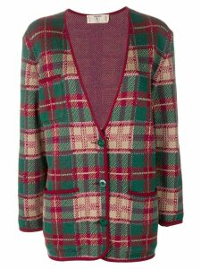Valentino Pre-Owned checked jacket - Green