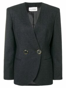Gianfranco Ferre Pre-Owned wrap blazer - Grey