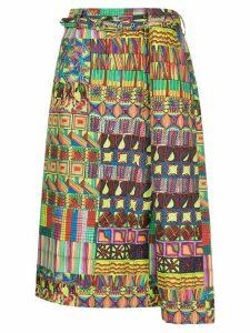Comme Des Garçons Pre-Owned Kaleidoscope print skirt - Multicolour