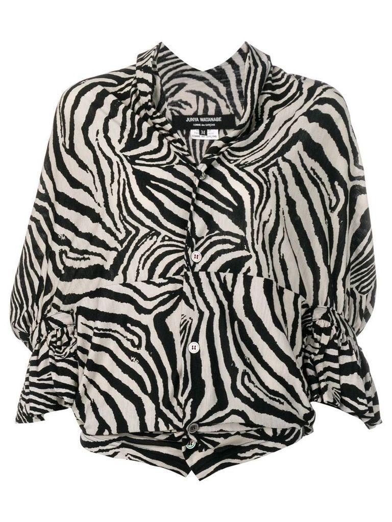 Junya Watanabe Comme Des Garçons Vintage zebra striped top - Black