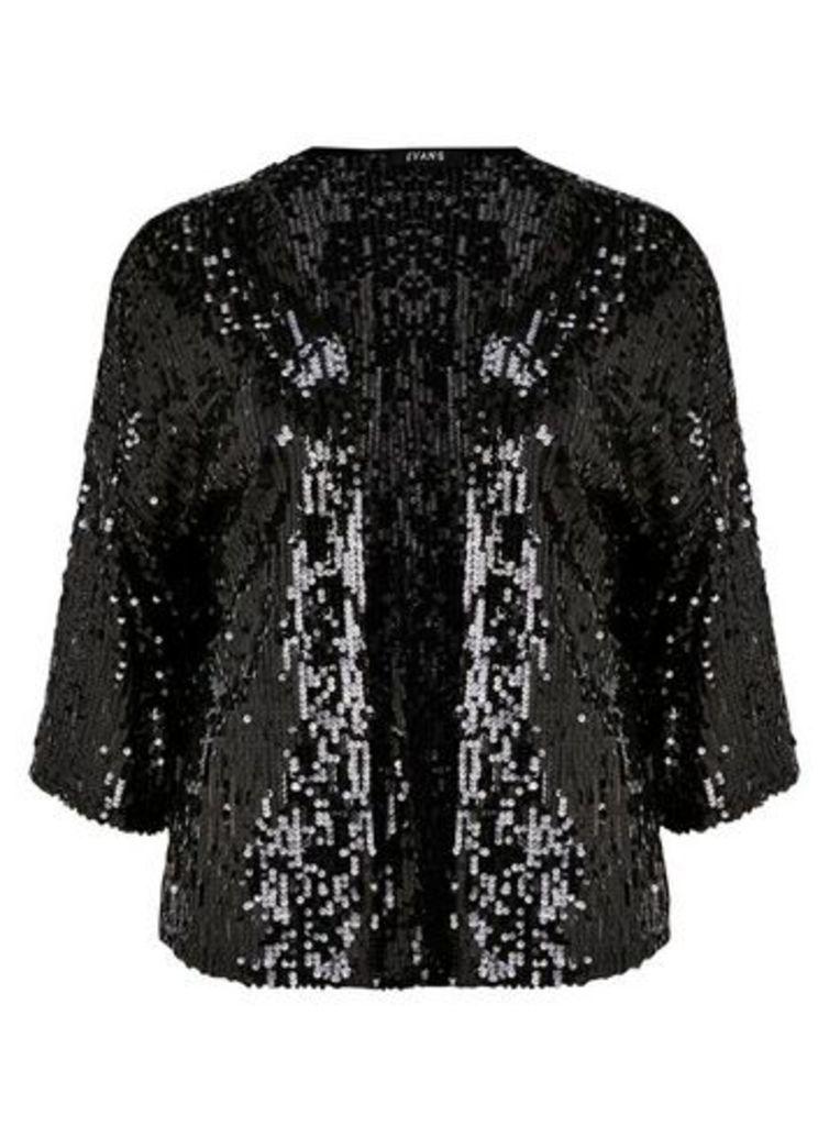 Black Sequin Cover Up, Black