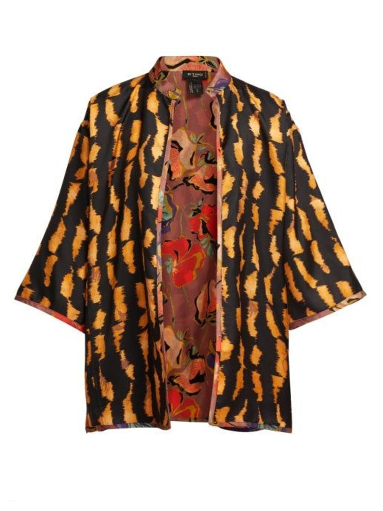 Etro - Reversible Silk Twill Jacket - Womens - Multi