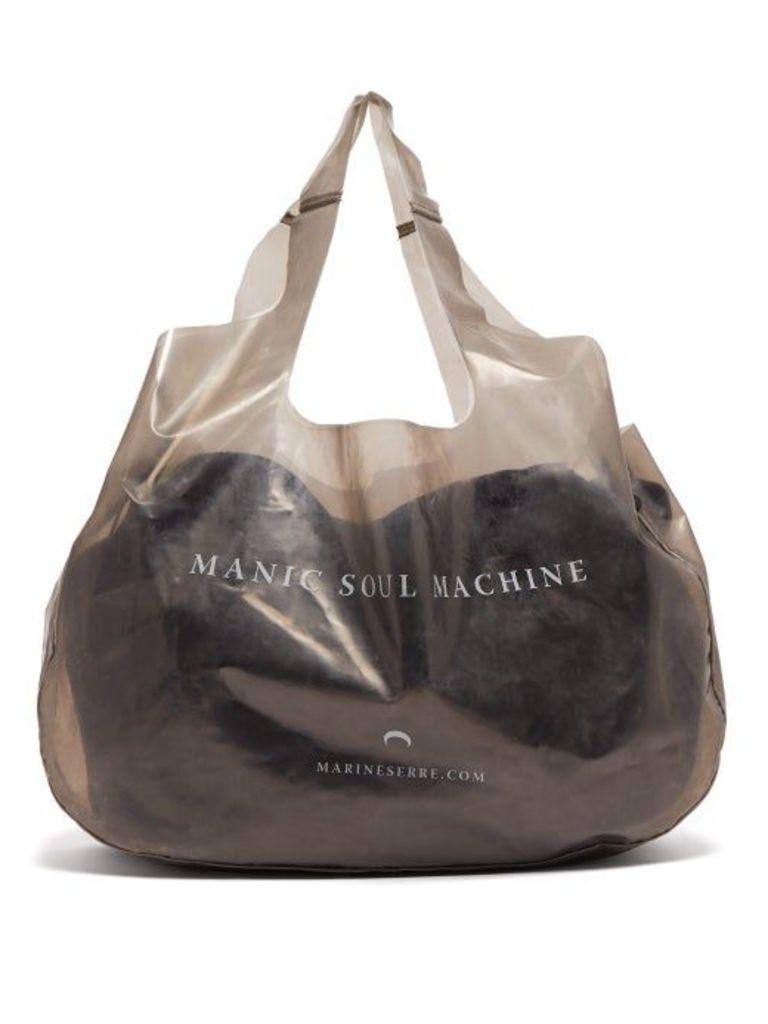 Marine Serre - Printed Pvc Tote Bag - Womens - Grey