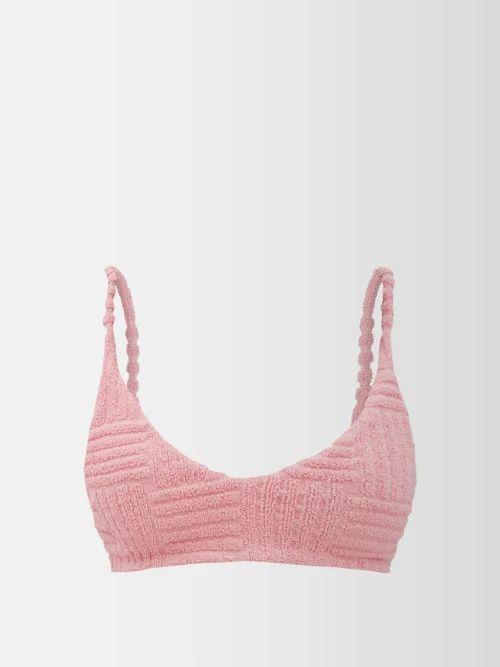 Bottega Veneta - Loop Small Intrecciato Leather Shoulder Bag - Womens - Black