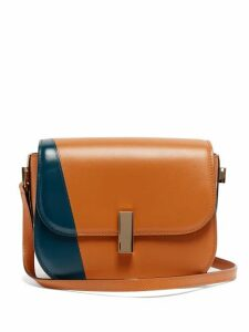 Valextra - Iside Cross Body Leather Bag - Womens - Tan Multi