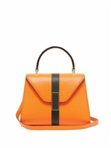 Valextra - Iside Mini Grained Leather Bag - Womens - Orange