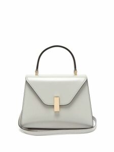 Valextra - Iside Mini Leather Bag - Womens - Light Grey