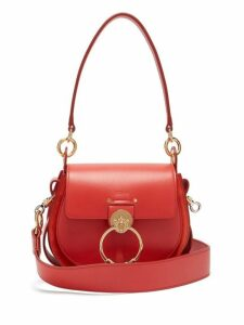 Chloé - Tess Small Leather And Suede Cross Body Bag - Womens - Red