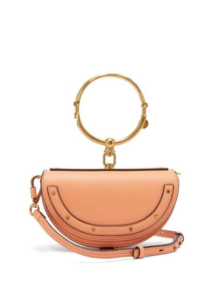 Chloé - Nile Minaudière Small Leather Clutch - Womens - Coral