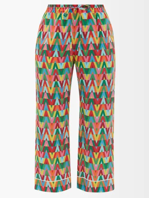 Versace - Logo Print Belt Bag - Womens - White Multi