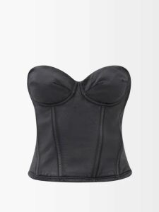 Norma Kamali - Exaggerated Kimono Sleeve Robe - Womens - Black