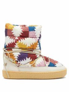 Juliet Dunn - Floral Embroidered Silk Kaftan - Womens - Green Gold