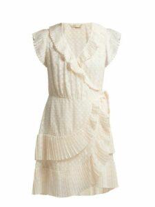 Zimmermann - Plissé Trim Wrap Mini Dress - Womens - Cream