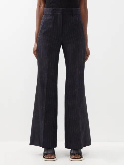 Kalita - Brigitte Silk Habotai Maxi Dress - Womens - Dark Red