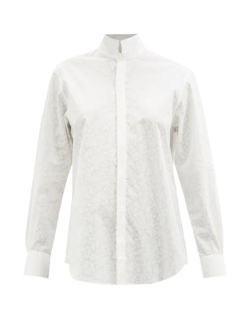 Kalita - Avendon Cotton And Silk Blend Maxi Skirt - Womens - Black